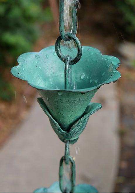 Kanji Patina Rain Chain Cup