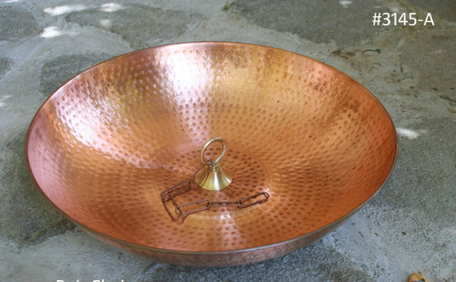 Round Copper Rain Chain Dish