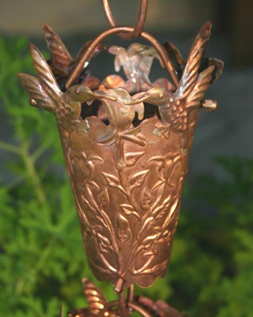 Hummingbird Copper Rain Chain