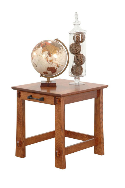 """Ventura Arts and Crafts End Table 22""""W"""