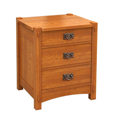 Mission 3 Drawer NightStand