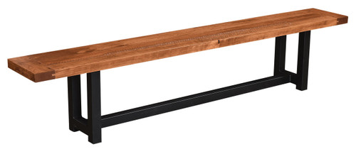 Rustic Cherry Sawmarked Bench
