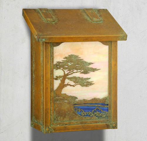 Monterey Cypress Vertical Mailbox