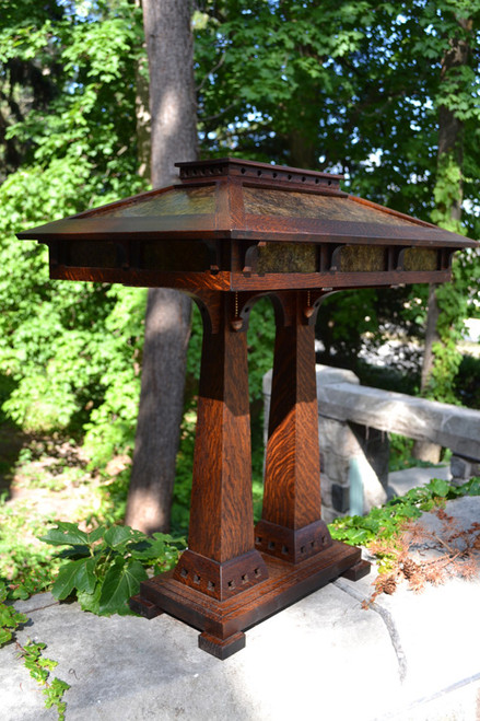 Craftsman Double Pedestal Lamp