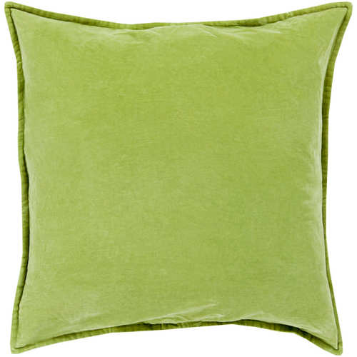 Olive Cotton Velvet Pillow