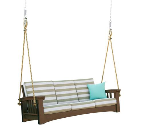 Brown Mission Sofa Swing