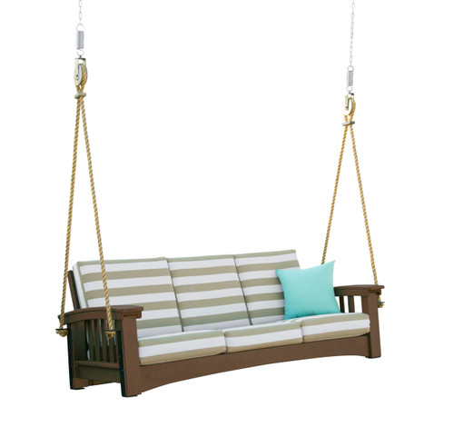 Brown Mission Sofa Swing