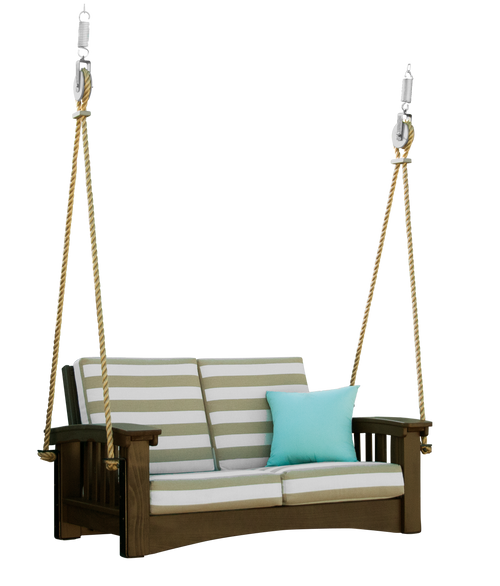 Mission Outdoor Love seat Rope Swing