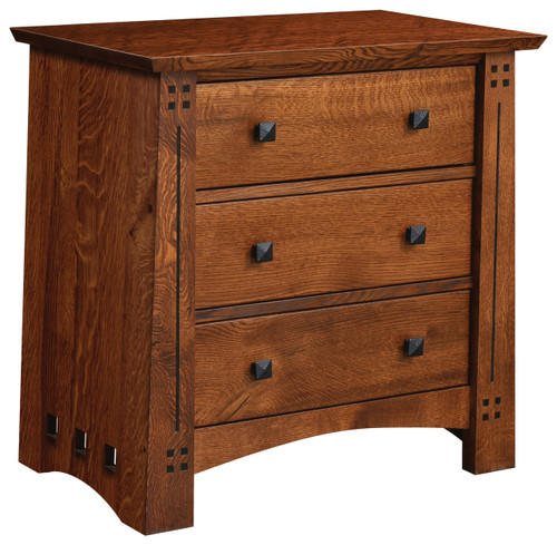 Old Glasgow Mission 3 drawer Night Stand