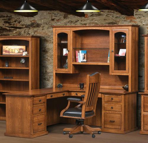 Salem l-desk with hutch