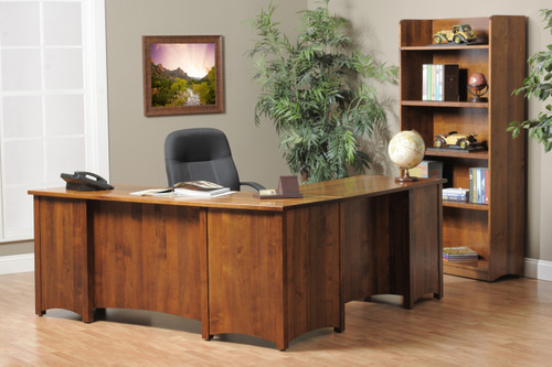 Rivertowne L-Desk with front raised panels