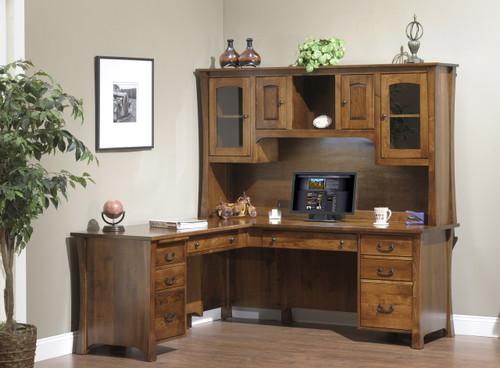 Woodbury L-Desk and Hutch