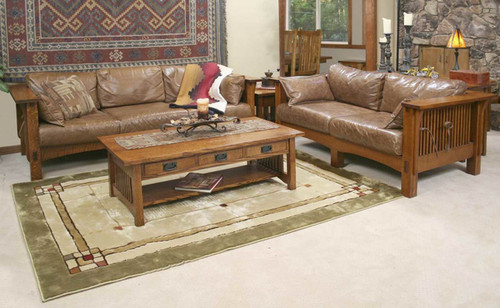 American Mission Sofa Loveseat Combo