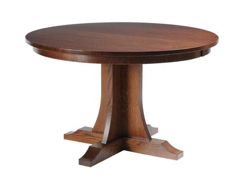 Hamilton Mission Single Pedestal Table 22002
