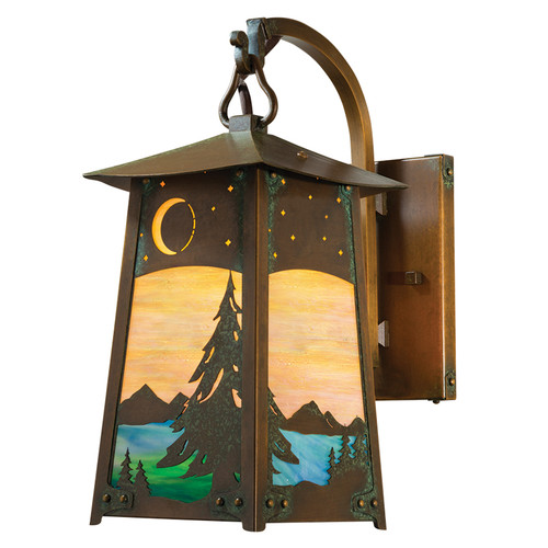 Hooked Arm Outdoor Sconce