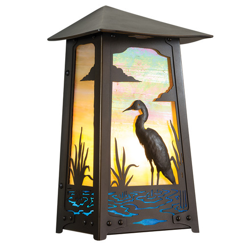Heron Flush Wall Sconce
