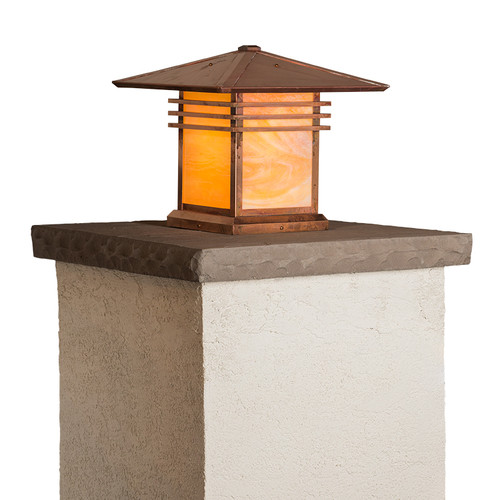 "Mariposa Column Mount with 12"" Roof 393-6"
