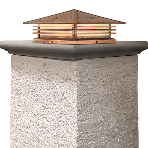 """Mariposa Shallow Column Mount with 18"""" Roof 395-61"""