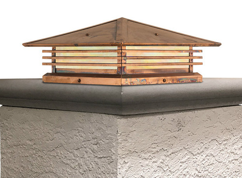 """Mariposa Shallow Column Mount with 21"""" Roof"""