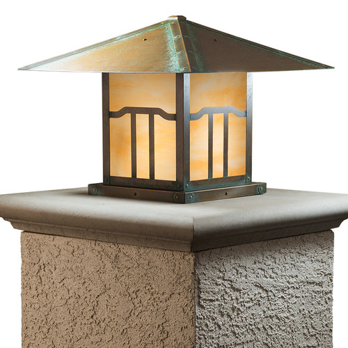 "Brookdale Column Mount with 21"" Roof 496-6"