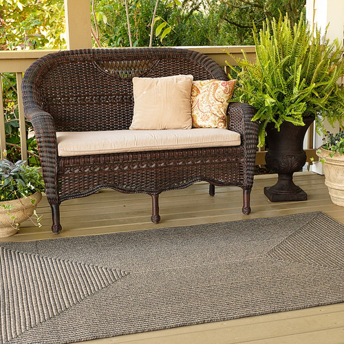 Smoke Black Grey Outdoor Rug