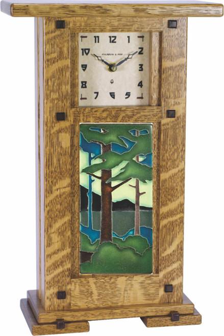 Greene & Green Tile Clock