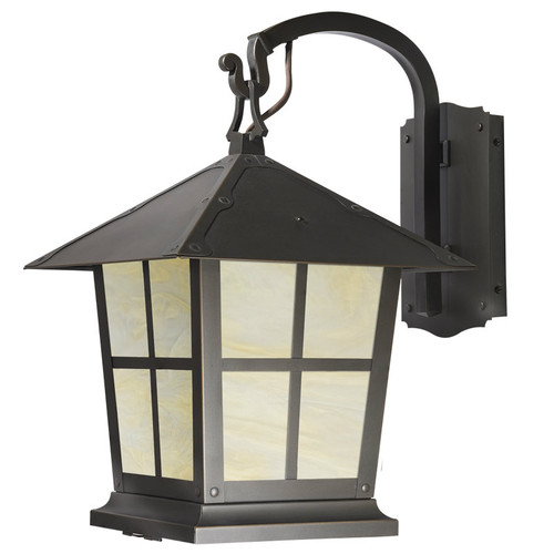 "Spring Street Hook Arm Sconce with 15"" Roof 1025-1"