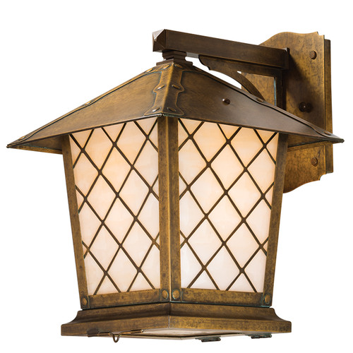 "Spring Street Fixed Arm Sconce with 7"" Roof 1022-8"