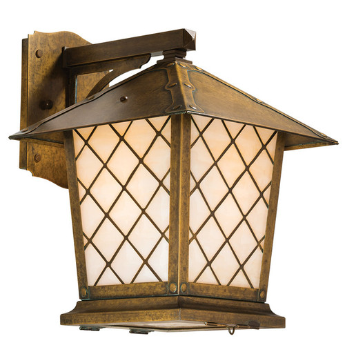 "Spring Street Fixed Arm Sconce with 12"" Roof 1024-8"