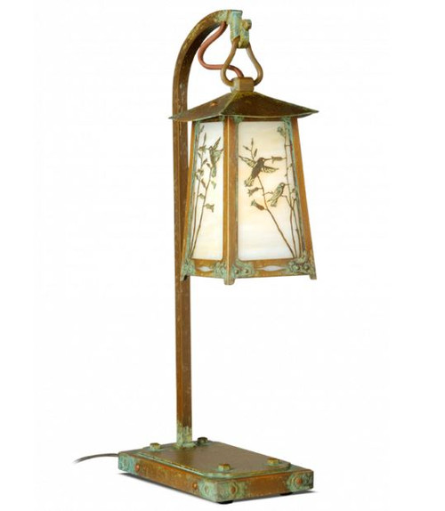Hummingbird Hook Arm table Lamp
