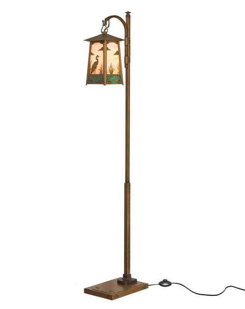 Blue Heron Hook Arm Floor Lamp