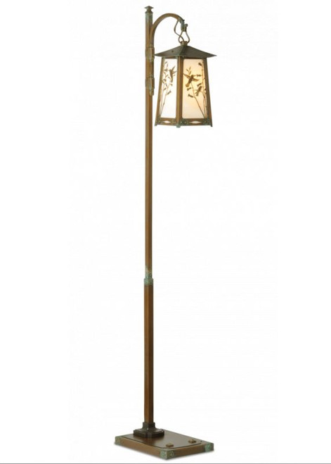 Hummingbird Hook Arm Floor Lamp