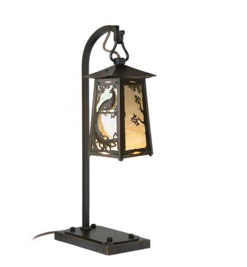 Peacock Hook Arm Table Lamp