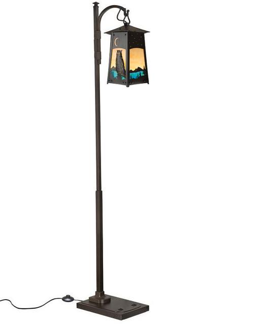 Owl Filigree Hook Arm Floor Lamp