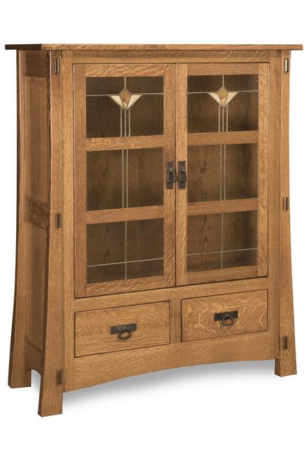 "Modesto 2 Door 56""H Mission Style Cabinet"