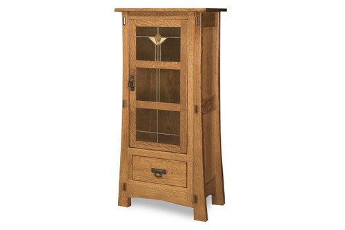 "Modesto Single Door 56""H Mission Style Cabinet"