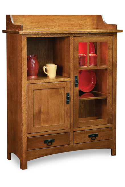 "Pottery Mission Style 58""H Cabinet"