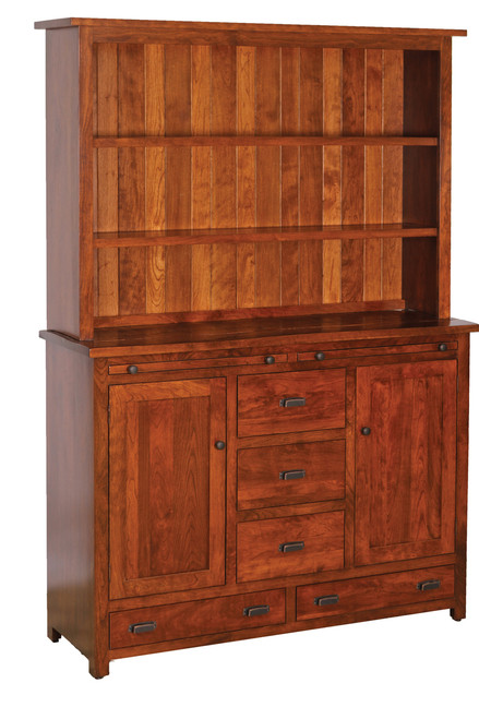 """Settelers 56"""" W Hutch with Open Top #11-56-SV"""