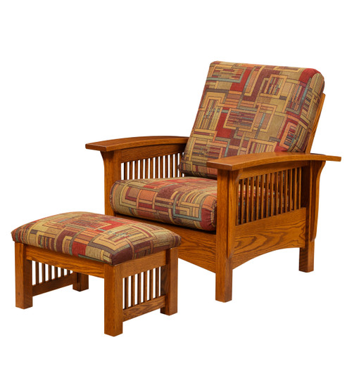 Mission Morris Chair 84-ELM with Ottoman