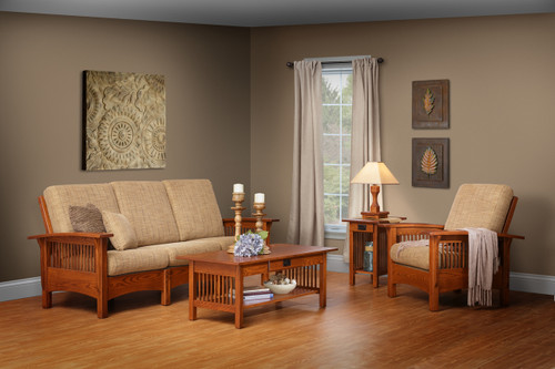 4 Piece Craftsman Mission Living Room