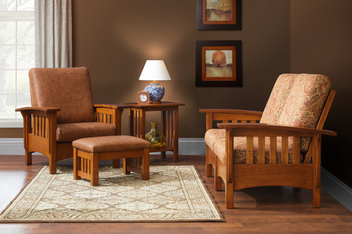 Craftsman Classic Mission 4-Piece Living Room Collection - ELM
