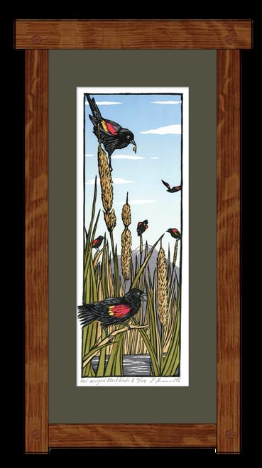 Red Winged Blackbird #2 Print Framed