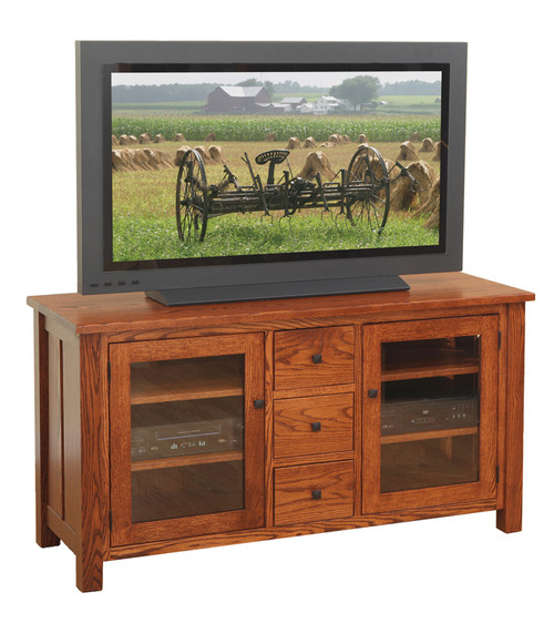 """56"""" W Canted Mission TV Stand 39-602-DDD-HOPE"""