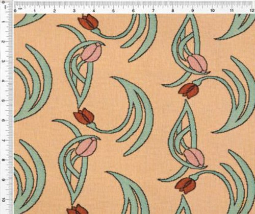 Flowers and Vines Fresh Caramel - Fabric by the Yard
