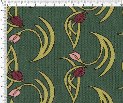 Flowers and Vines- Aqua Spray - Fabric by the Yard