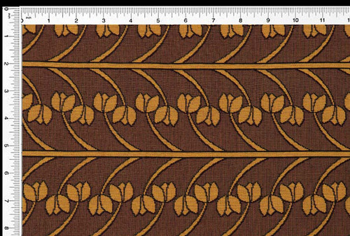 Vine Stripe- Fresh Caramel - Fabric by the Yard