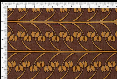 Vine Stripe- Fresh Caramel - Fabric by the Yard
