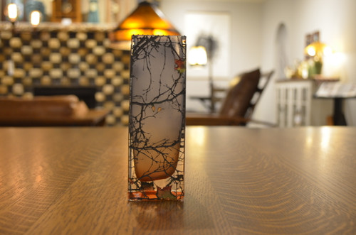 "6"" Cube Storm Rust Glass Vase by Mary-Melinda Wellsandt"