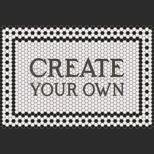 Create your Own Vintage Vinyl Floor Cloth