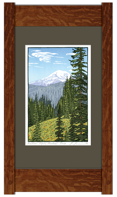 Mt. Rainier Alpine Meadows Framed Print